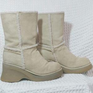 Nine West Suede Leather Platform Boots